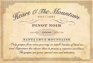 2006 Heart O The Mountain Estate Santa Cruz Mountains Pinot Noir