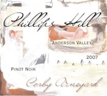 2007 Phillips Hill Winery Corby Vineyard Anderson Valley Pinot Noir