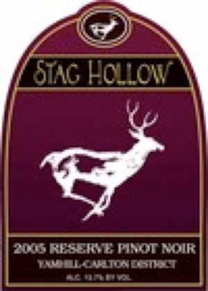 2005 Stag Hollow Winery Vineyard Reserve Yamhill Carlton District Willamette Valley Pinot Noir
