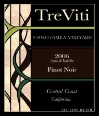 2006 Tre Viti Wines Stolo Family Vineyard Anna Di Isabella Central Coast Pinot Noir