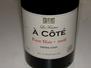 The prince of pinot for La fenetre pinot noir 2010