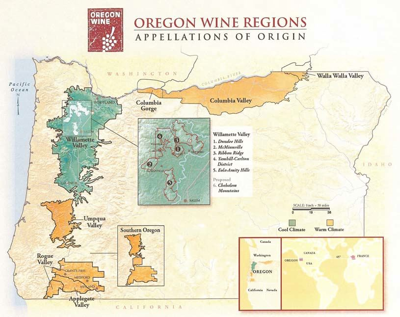 Umpqua Oregon Map.Umpqua Valley Oregon The Pinotfile Volume 8 Issue 39