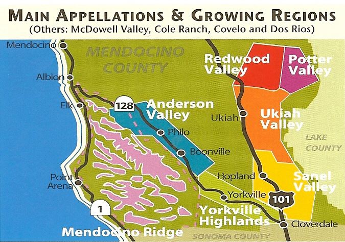 Anderson Valley Winery Map