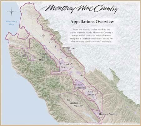 santa lucia highlands map The Holy Trinity Of Santa Lucia Highlands Pinot Noir The santa lucia highlands map