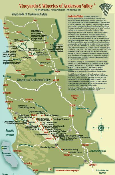 Mendocino ridge ava map