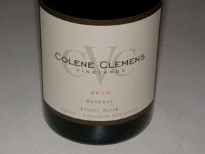 2011 Colene Clemens Vineyards Margo Estate Chehalem Mountains Pinot Noir