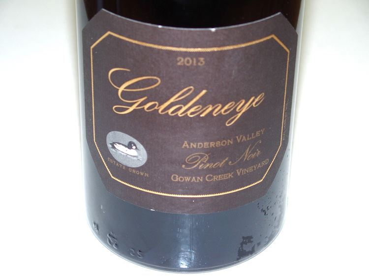 2013 Goldeneye Gowan Creek Vineyard Anderson Valley Pinot Noir