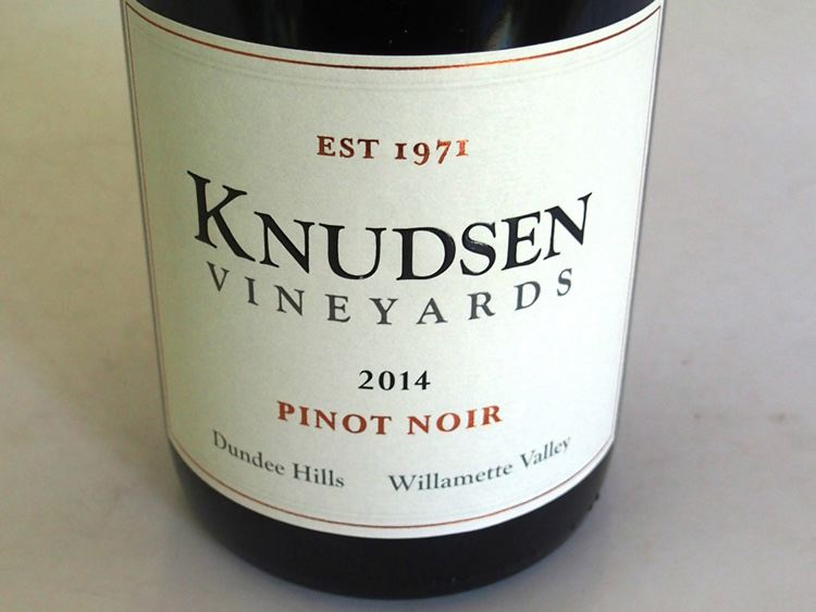 2014 Knudsen Vineyards Dundee Hills Willamette Valley Pinot Noir
